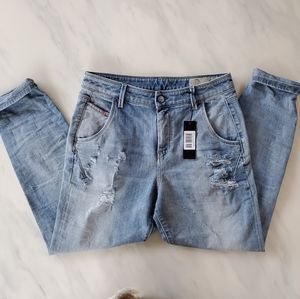 Brand New Diesel Relaxed Boyfriend Low Rise Jeans